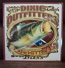 LARGE MOUTH BASS DIXIE OUTFITTERS BIG HIT Metal Sign Wall Decor Made