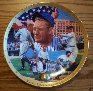 LOU GEHRIG  THE IRON HORSE Plate Franklin Mint BASEBALL