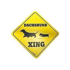 Dachshund Crossing Dog Sign: Patio, Lawn & Garden