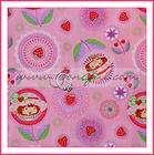 BOOAK Fabric Strawberry Shortcake Heart Pink Flower OOP