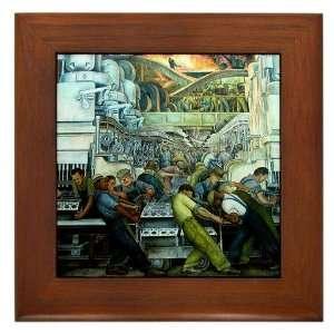 Diego Rivera Detroit Industry Framed Art Tile Art Framed