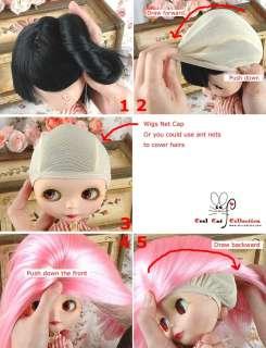 CoolCat, Custom Blythe Wigs ( D2 0218 04 ) Pink