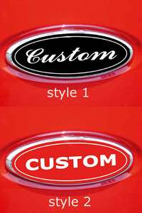CUSTOM MADE FORD F150 OVAL EMBLEM OVERLAY DECALS