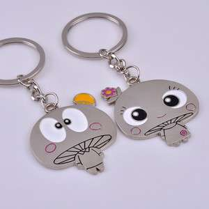 Pair Charms Cute Lovers Mushroom Key Chain Key Ring Gift