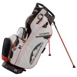 Sun Mountain 2012 HYBRID Golf Bag with Stand BLACK SILVER LAVA BRAND