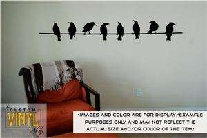Birds On A Wire   Vinyl Wall Decal Sticker Decor Art