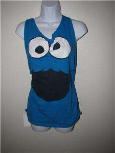 new cut up backless t shirt couture DIY tank top SESAME STREET ST