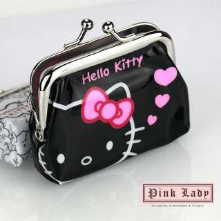 V14 Cute Hello Kitty Cat Metal Clasp Coin Bag Purse