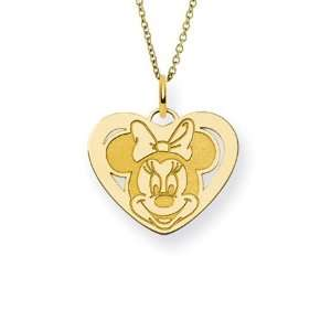 Gold Vermeil Minnie Mouse Heart Charm Penddant   Offically
