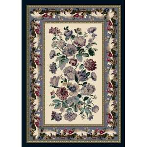 Innovation Collection Chelsea Opal Lapis Blue Floral Nylon Rug 7.70