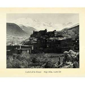 1936 Halftone Print Casbah Si Ahmed Atlas Mountains Morocco