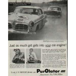 NASCAR Grand National Championship stock car races put oil