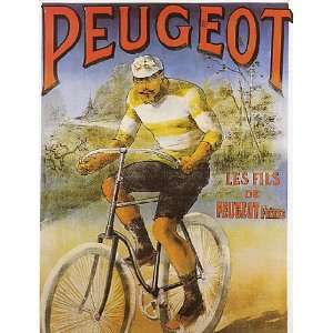 BICYCLE CYCLE BIKE PEUGEOT FRENCH VINTAGE POSTER CANVAS
