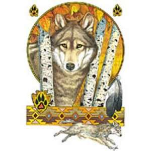New Native American Indian Wolf White T Shirt Design All Mens & Women