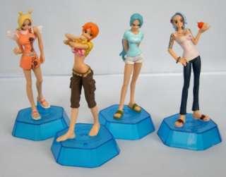 NEW 4pcs Japan anime One Piece figure Vivi Nami