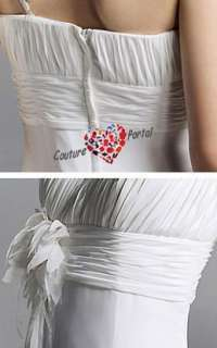 Sheath One Shoulder Court Train Chiffon Wedding Dress