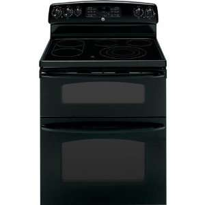 Electric Double Oven Convection Range   Black