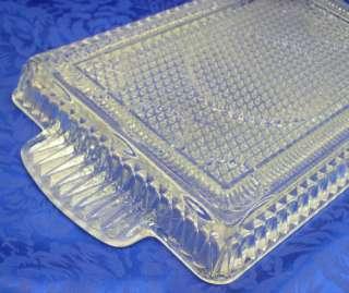 Diamond Pattern Glass Dresser Bed/Bath Room Vanity Tray Perfume/Polish