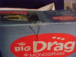 1960s The Big Drag Monogram 1/8 Scale Roadster Box Only