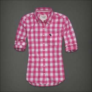 2012 New Womens Abercrombie & Fitch By Hollister Plaid Shirt Tessa