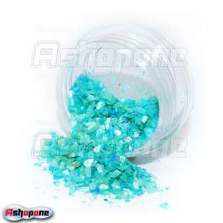 12 Color Glitter Crushed Shell Nail Art Decoration Powder Tips