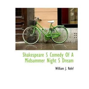 Shakespeare S Comedy Of A Midsummer Night S Dream