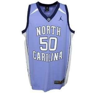 North Carolina Tar Heels (UNC) #50 Sky Blue Replica Basketball Jersey