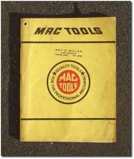 MAC TOOLS   1958 Vintage Tool Box, Chest, and Tool CATALOG No. 58 L