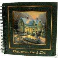 Thomas Kinkade Blessings Christmas Card List Book