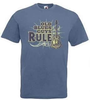OLD BLUES GUYS RULE MUSIC DOBRO GUITAR T SHIRT