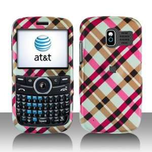 Premium   Pantech Link Hot Pink Plaid Cover   Faceplate