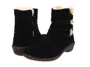 UGG CASPIA BLACK SUEDE BOOTS Womens SIZE 3335 NIB