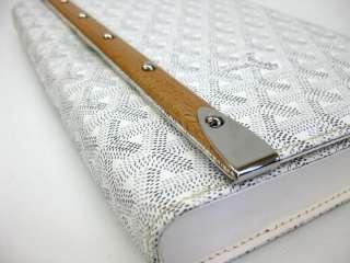 Auth GOYARD MONTE CARLO CLUTCH BAG PVC WHITE(BF031819)
