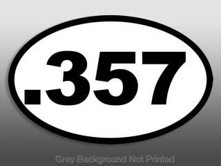Oval .357 Sticker   gun caliber nra decal pistol magnum