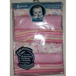 Pack Prefold Premium Cloth Diapers, Girls Prints and Solids: Baby