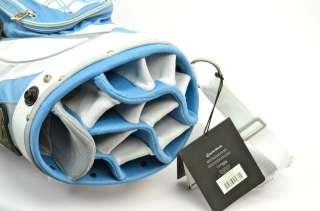 NEW TAYLORMADE LADIES CATALINA CART BAG 5.9 LBS BLUE & WHITE 14 WAY