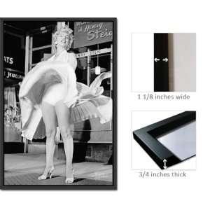 Framed Marilyn Monroe Poster Skirt U Blowing FrPas0089