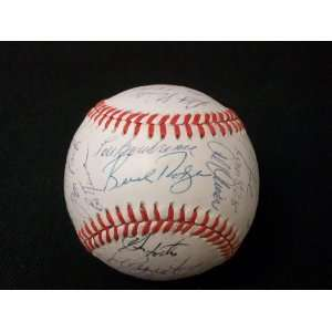 Vintage Old Timers Day Multi Signed ONL Baseball JSA