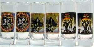 KISS Army Rock Band Concert Album Shot Shooter Glass Barware Drink