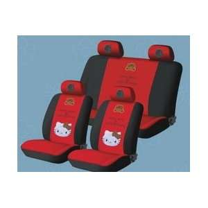 com New Hello Kitty Universal Car Seat Cover   10pcs Full Set Red