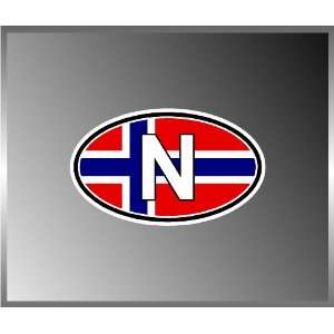 Norway Norwegian Flag Vinyl Euro Decal Bumper Sticker 3 X