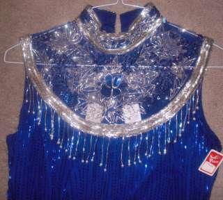 Dark Purple Sleeveless Prom 100% Silk Formal Dress