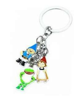 Unique Juliet and Gnomeo Charms Metal Keychain Key Chain Ring