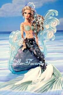 In Hand 2012 Barbie Mermaid Fantasy Doll Gold Label Fairytale
