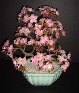 Made for GUMPS Glass Bonsai Cherry Blossom Tree   Japan
