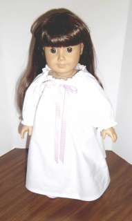 American made clothes 18 doll White/pink gown/slippers