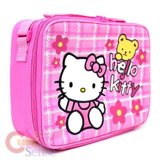 Kitty Large School Roller Backpack Lunch Bag Pink Teddy Bear 6