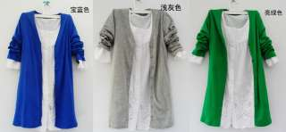 Pick Color Women Lady Knitting Cardigan Sweaters Long Sleeve