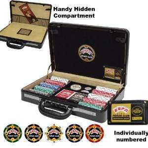 ESPN® 300 pc Championship Edition Set w/Genuine Leather Case