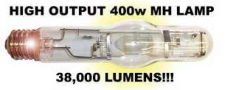 NEW 400 watt METAL HALIDE GROW LIGHT w 400w MH LAMP hps